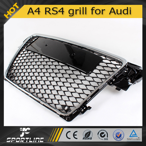 Chrome With Parking Sensor ABS Grill for Audi A4 B8 RS4