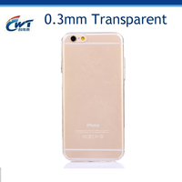 hot selling Transparent clear 0.3mm ultra thin TPU case for iphone 6s