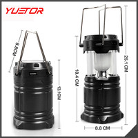 Solar Rechargeable Camping Lantern,unigear Collapsible Portable LED Camp Light Flashlight Lamp Battery Powered