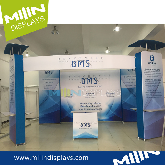 Multi color exhibition stand 10x10 modular booth stands pop up wall booth design