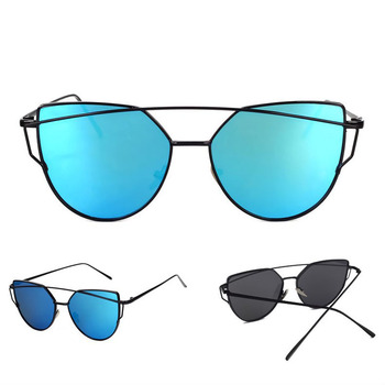 High Fashion Metal Temple sunglasses Horn Rimmed Clear Lens Eye Glasses 2018