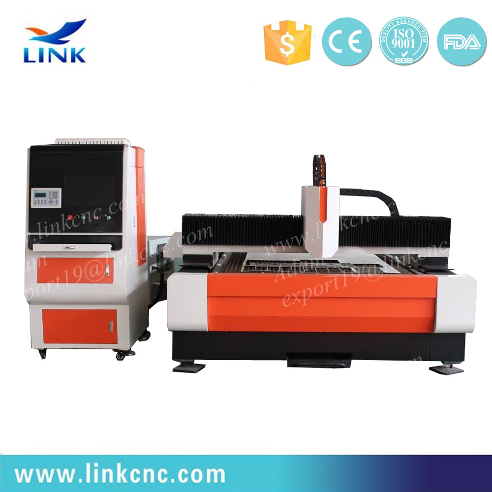 300w stainless steel fiber laser cutting machine for sheet metal processing / kitchen ware / elevators