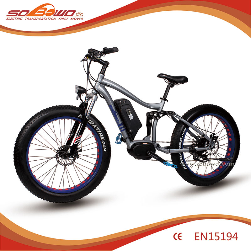 S29-2 high quility mid motor fat tyre moutain electric bike