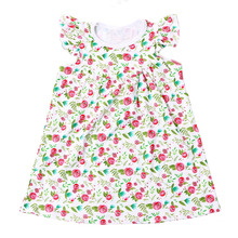 Howell summer fashion clothes flowery print knit cotton new model girl dress