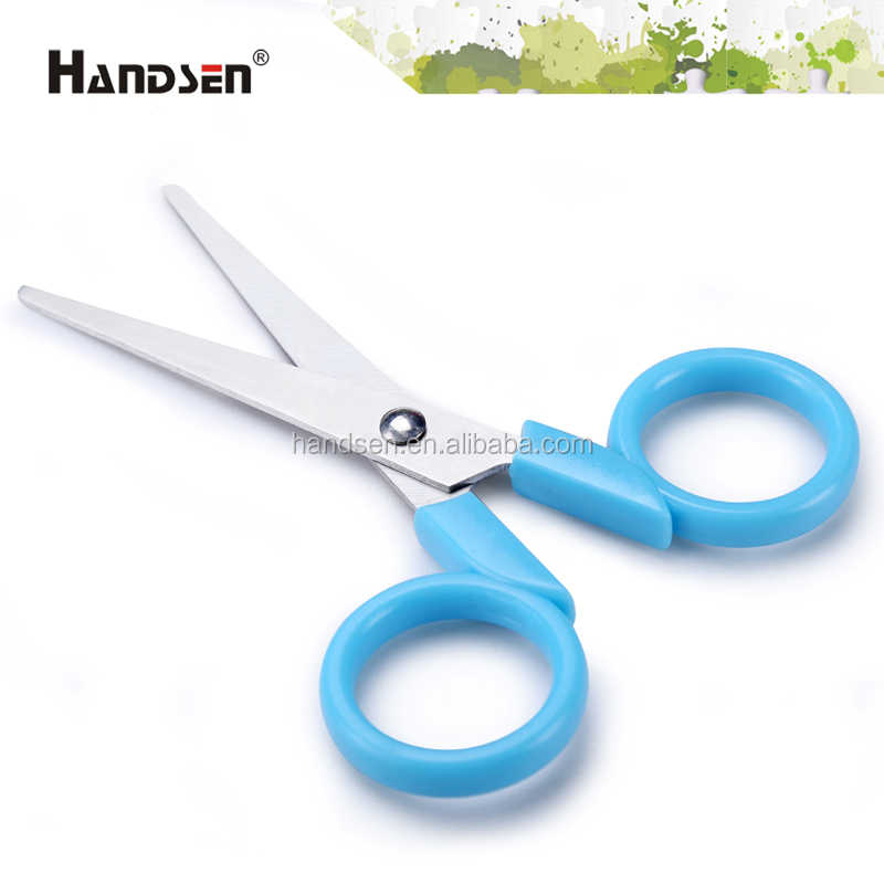 "4-3/4"" popular item plastic handle scissor with a cap"