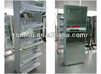 modern wood shoe cabinet, display mirror shoe cabinet