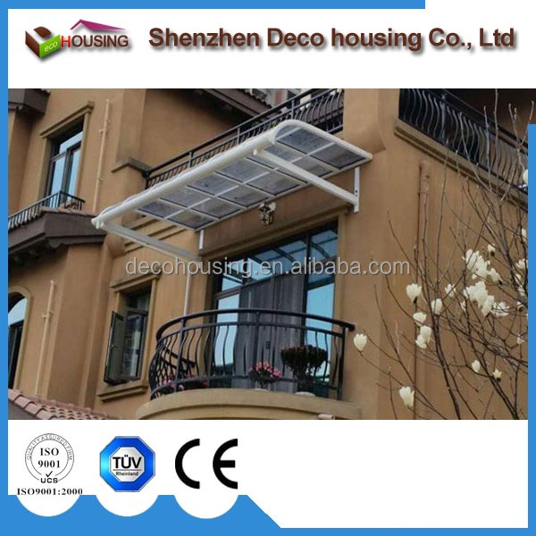 Modern Design Sunshade and waterproof polycarbonate canopy