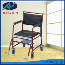 patient toilet chair commode wheel chair with wheels