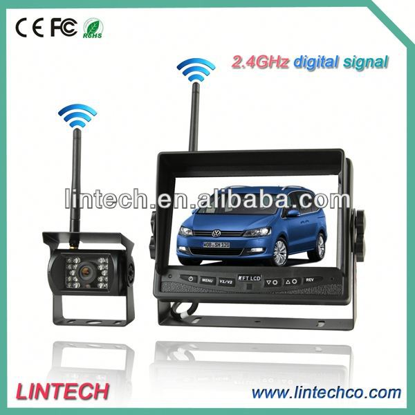 2.4GHz digital signal high definition wireless car front view camera for truck/trailer/bus