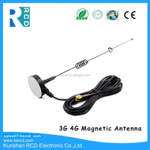 3G 4G Magnetic Antenna with SMA/CRC9/TS9 Connector RG174 Cable 600~2700 MHz Antenna