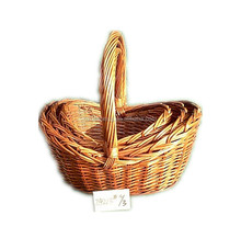 storage gift wicker basket with handle for hanging