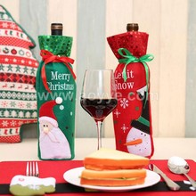 2017 fashion festival christmas decorations sequins gift red wine bottle packing bag