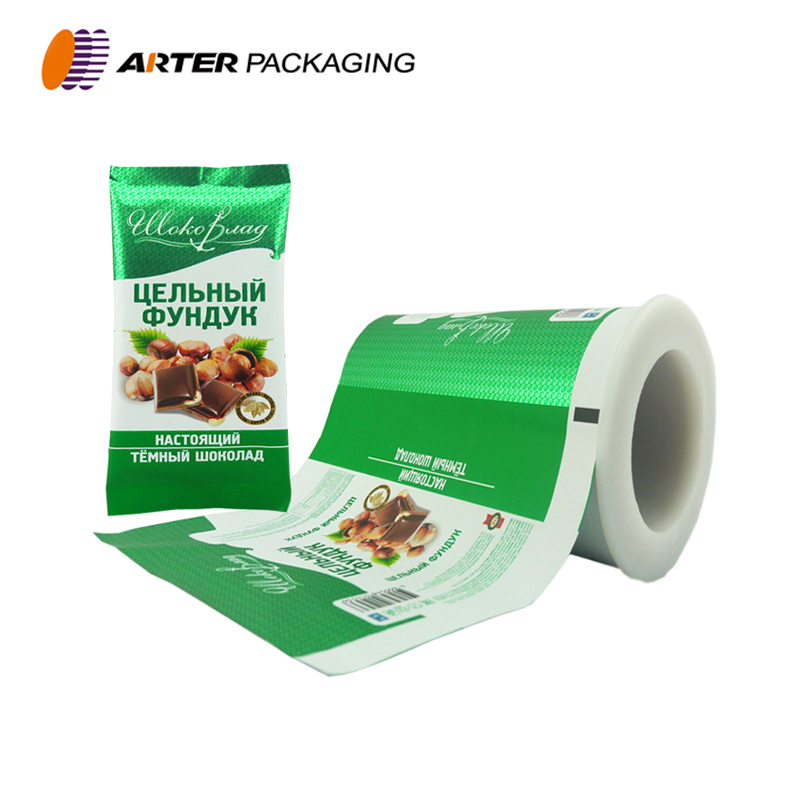 Printed chocolate bar packaging/material/plastic film roll