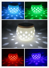 solar LED ceramic light indoor color changing lamp