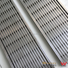 120mm width outdoor 316 stainless steel floor drain grate cover