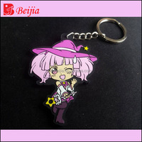 Cartoon Character Soft PVC Rubber Keychains,Anime Customized Make Your Own Silicone Keychain