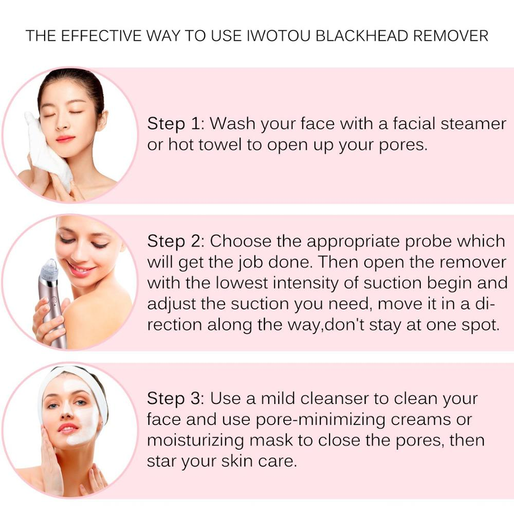 Professional Portable USB Facial Cleansing Kit Nose Acne Remover Machine electric vacuum blackhead remover