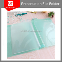 Factory price A4 size transparent PP plastic pockets file folder with custom logo printing