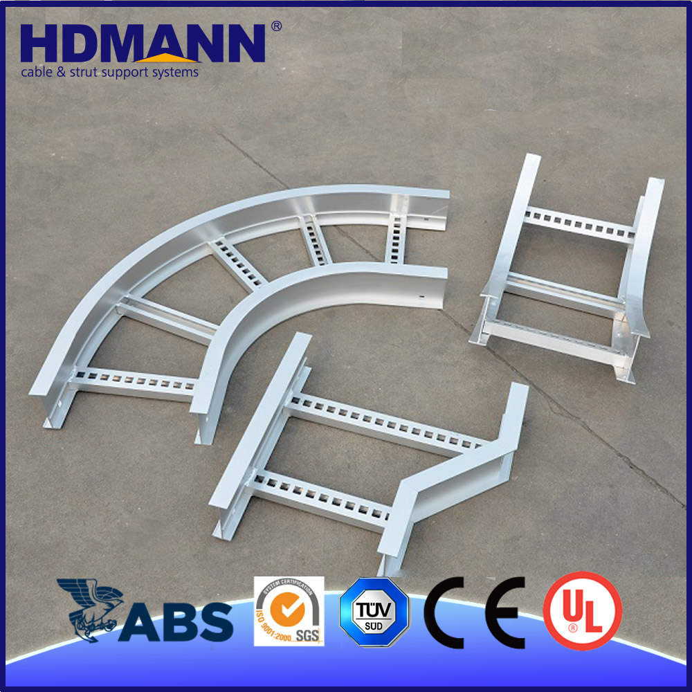 CE ISO TUV UL OEM Support Powerful Telecom Cable Tray Ladder Elbow Tee