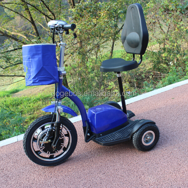 Front suspension folding 350w zappy 3 wheel electric scooter