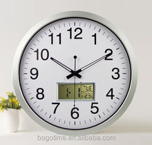 14'' day date calendar plastic large digital wall clock