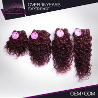 Heathy High End 100% Human Remy Hair Red Burgundy