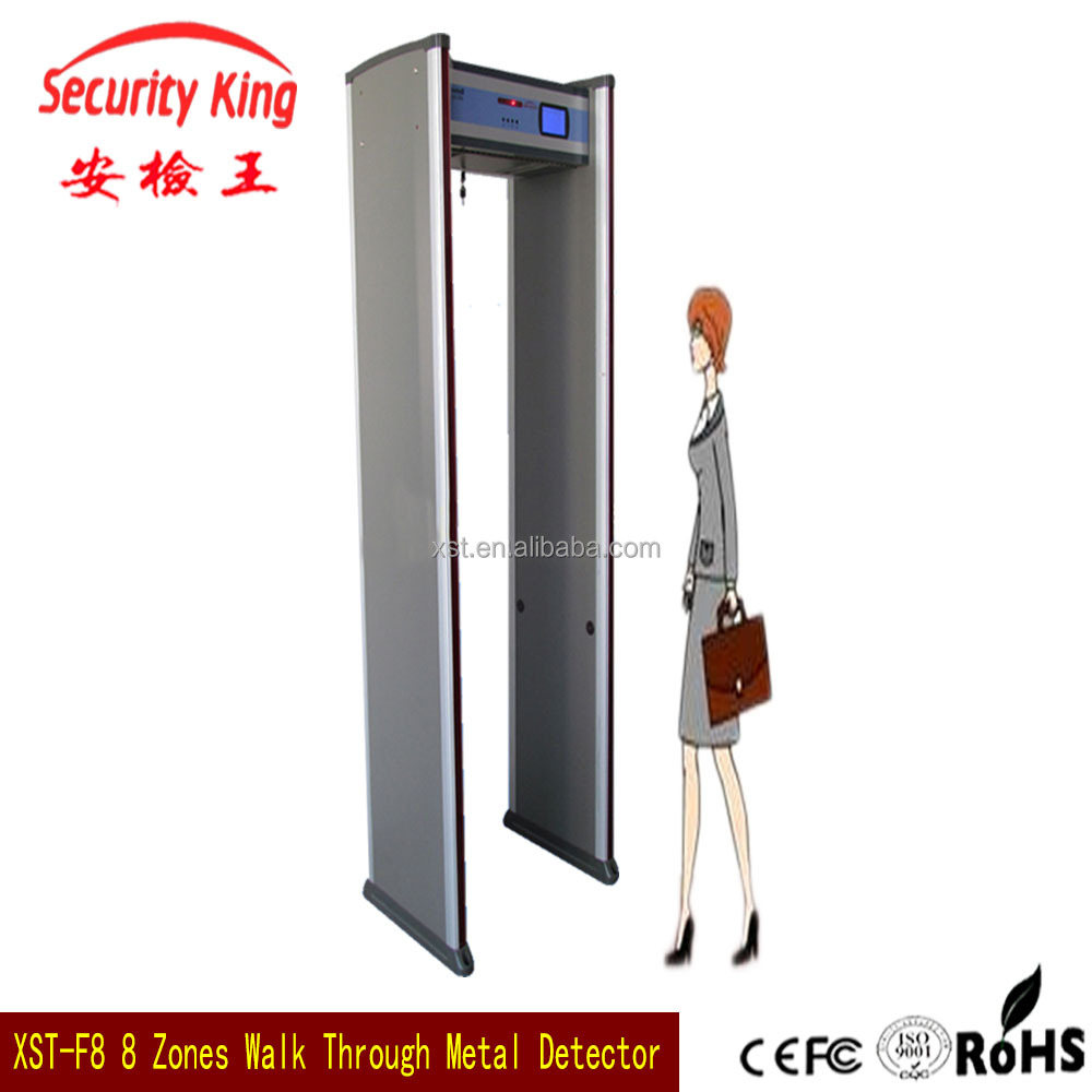 8 zone public security Indoor Walk Through bomb Detector Metal detector gate,full body scanner