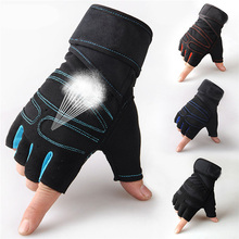 Strong Gym Fitness Gloves Power Training <strong>Weight</strong> Lifting Sports Crossfit Barbell Fingerless Half Finger Gloves