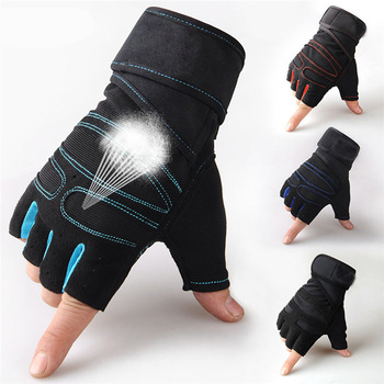 Strong Gym Fitness Gloves Power Training Weight Lifting Sports Crossfit Barbell Fingerless Half Finger Gloves