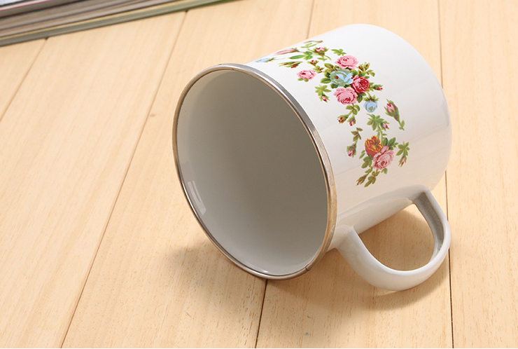 FDA food grade High quality Eco-Friendly Customized Metal Enamel Mug
