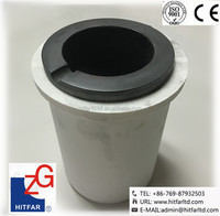 8KGs High Pure Graphite Crucible/Pot for Sale + ceramic sleeves/outer/coat