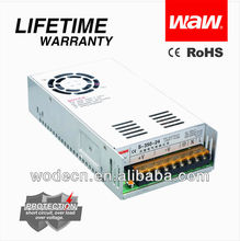 Regulated Switch Power Supply DC 12V 30A with CE ROHS approved