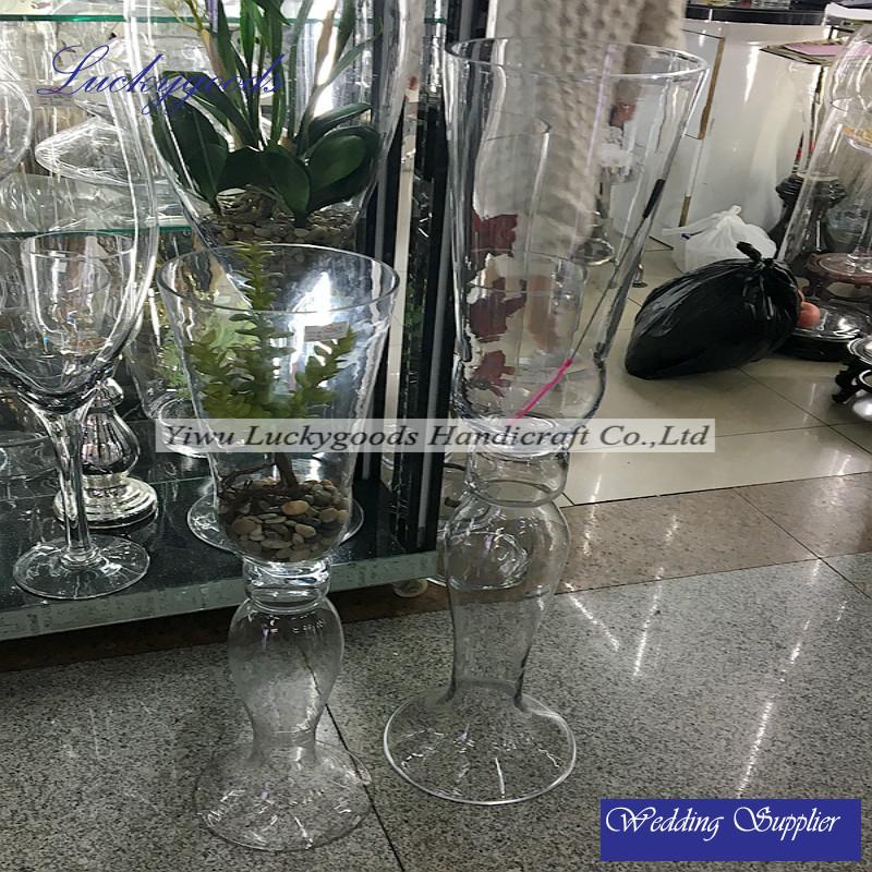 Crystal Clear Decorative High Quality Glass Vase Crystal Clear