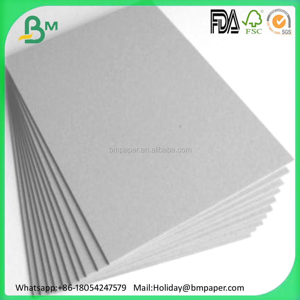 1.2mm 2mm laminated grey board for book cover