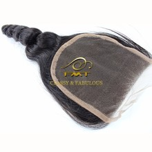 "Large Stock Factory Price 4""*4"" Virgin Hair Bundles With Lace Closure Middle Part Lace Closure"