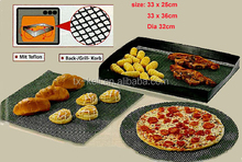 Reusable Non-stick Pizza Baking Crisper Mesh- Freezer, Microwave, and Dishwasher Safe