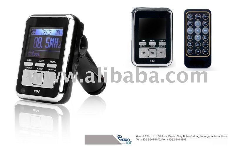 Wireless FM transmitter / RDS / Car MP3 Player / Supports USB and SD card / Aux in out