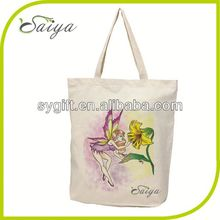 customized square bottom cotton shopping bag