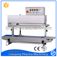 Vertical continuous plastic 20-32cm bag sealing machine(print date function)