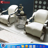 Verner stainless steel high rebound sponge sofa chair