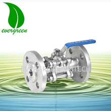 Manual Lever Flanged Stainless Steel WCB 3 pieces Ball Valve