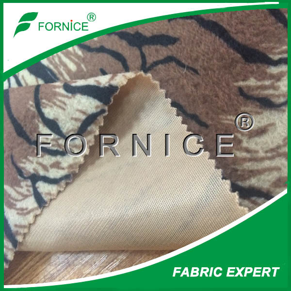 polyester tiger printed fake animal blanket fur fabric