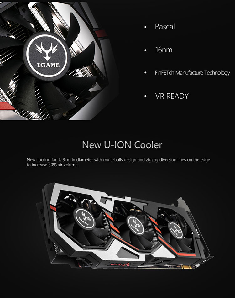 COLORFUL GeForce GTX 1060 6GB iGame (IGAMEGTX1060 U-6GD5 TOP) Graphics Card