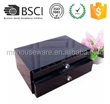 M&E Black Acrylic Container Plastic Storage Box Cosmetic Organizer Jewelry Box Organiser For Home