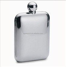 Men Gift Stainless Steel Hip Flask 6oz Outdoor Portable Hip Flask Mirror Polished Wine Pot Alcohol Flagon with Funnel