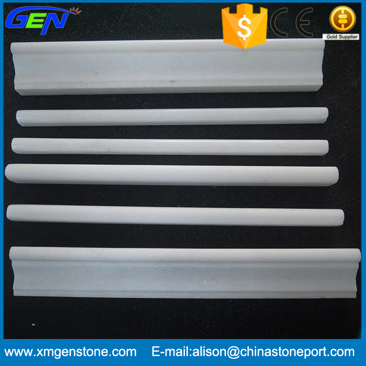 Chinese Snow White Marble Stone Boarder Marble Moulding