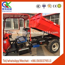 Weighted double beam engineering three-wheeler together with hydraulic jacking