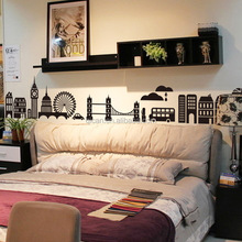 City Scenery large size wall sticker Bedroom living room background decoration pvc sticker