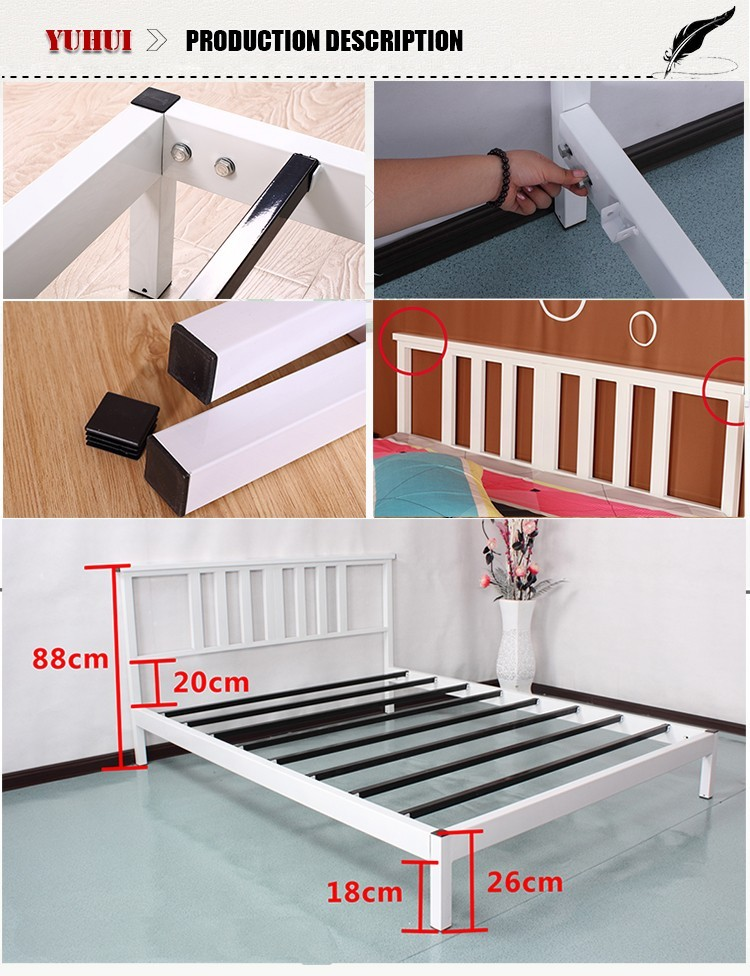 Modern design queen metal bed frame king bed frame