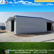 galvanized light steel frame greenhouse kit/coldroom storage warehouse factory/light steel frame structure godown